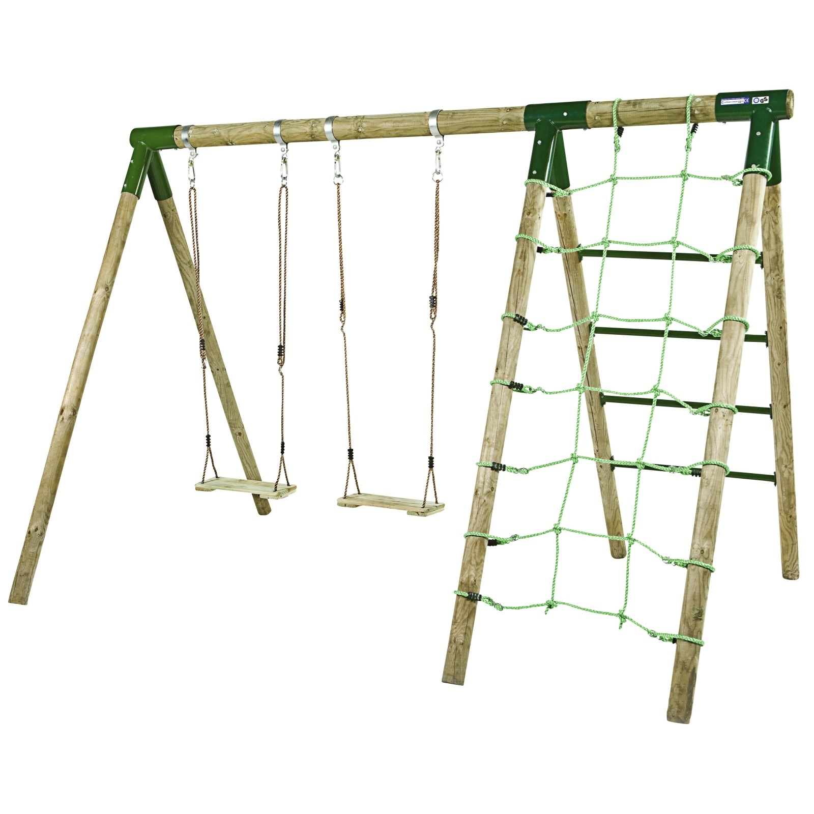 Hervorragend Kinderschaukel Holz 295 × 200 cm - Kinderspielzeug Outdoor - LANDI CU79
