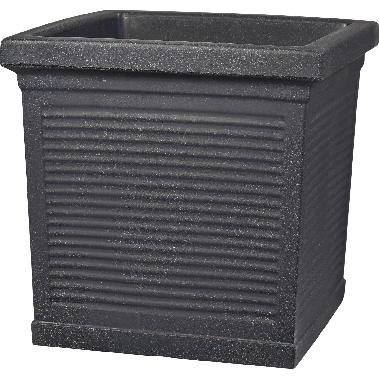 blumenk bel anthrazit 45 45 cm pflanzgef sse outdoor landi. Black Bedroom Furniture Sets. Home Design Ideas