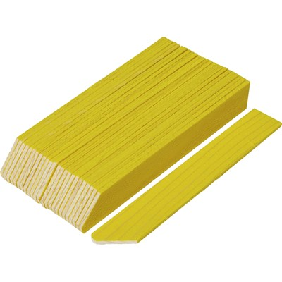 Holzetiketten gelb 12 cm