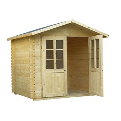 Holzblockhaus 240 × 200 × 240 cm