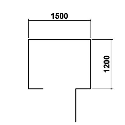 Gerätehaus 120 × 150 × 210 cm
