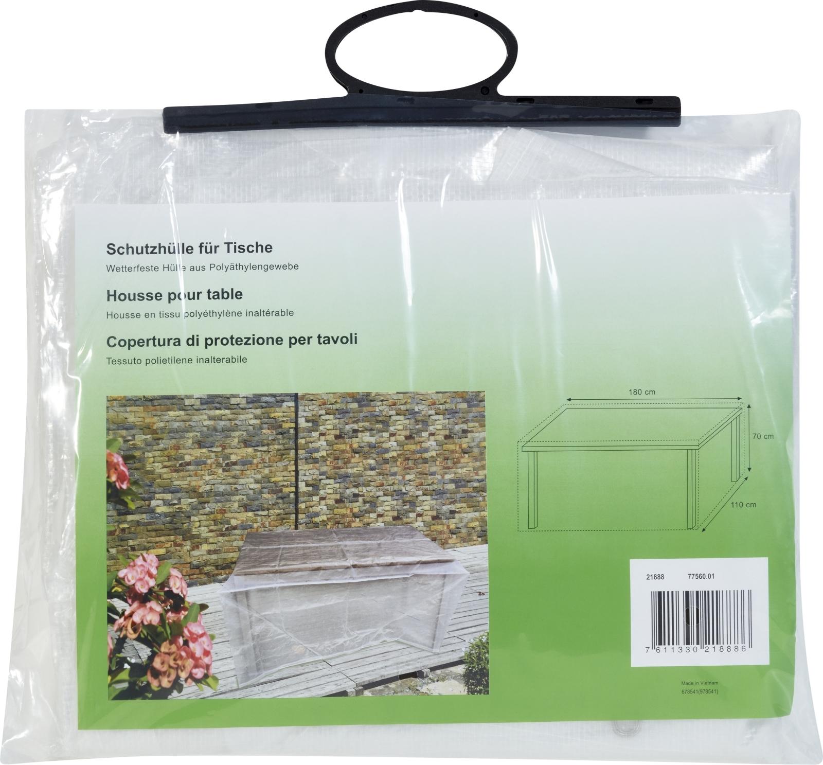 Schutzhülle Tisch 180 × 110 × 70 Cm