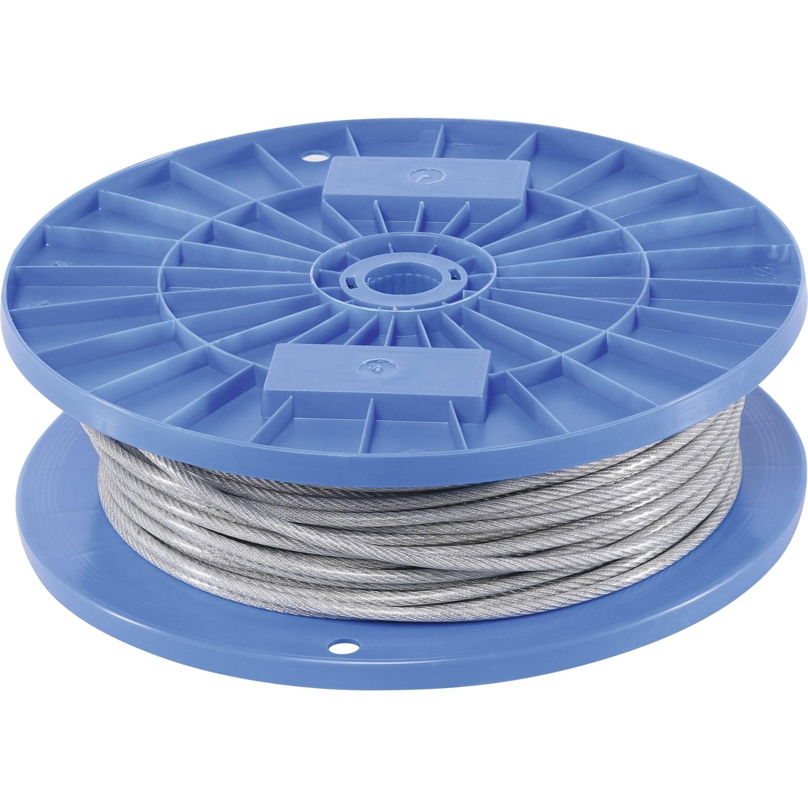 Drahtseil plastifiziert 4,5mm×100m - Ketten und Seile - LANDI