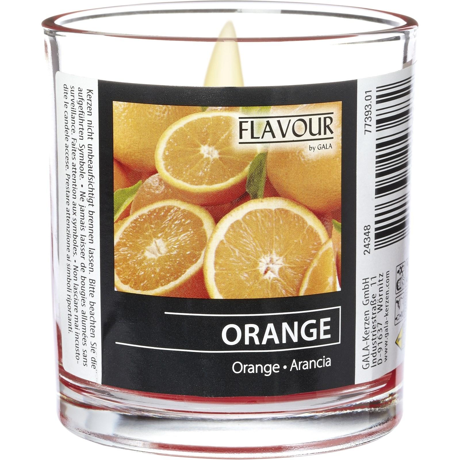 duftkerze im glas orange duftkerzen landi. Black Bedroom Furniture Sets. Home Design Ideas