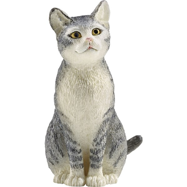 Chat assis gris Schleich