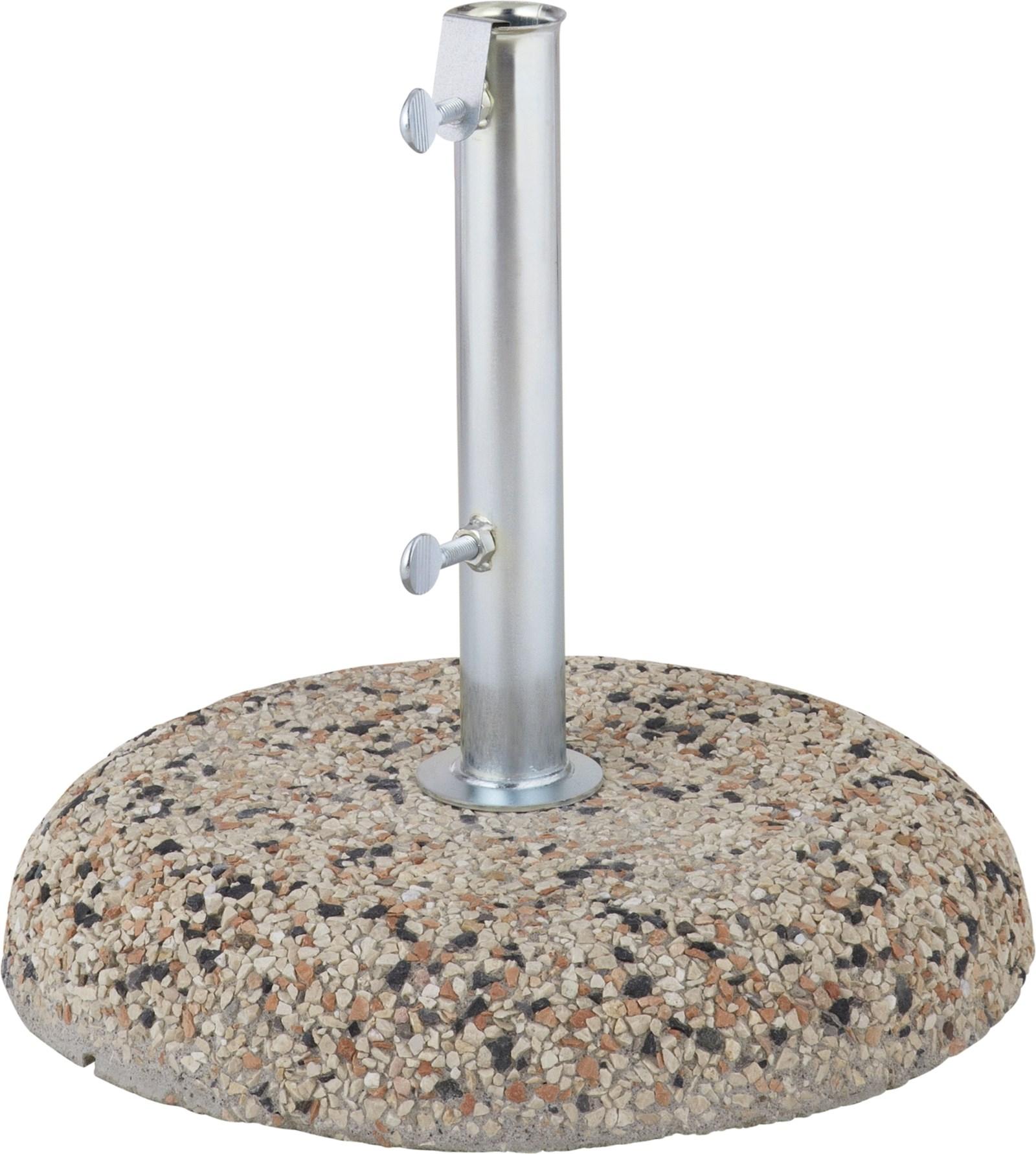 pied de parasol en pierre