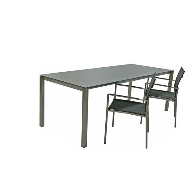 Table rallonge céram. 90×150-210cm - Meubles d\'extérieur - LANDI