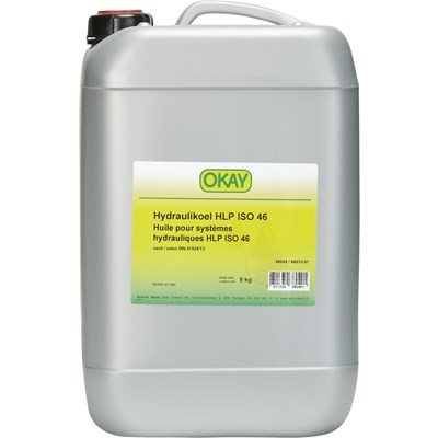 Huile hydr. HLP ISO46 Okay 9 kg