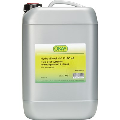 Huile hydr. HVLP ISO46 Okay 9 kg