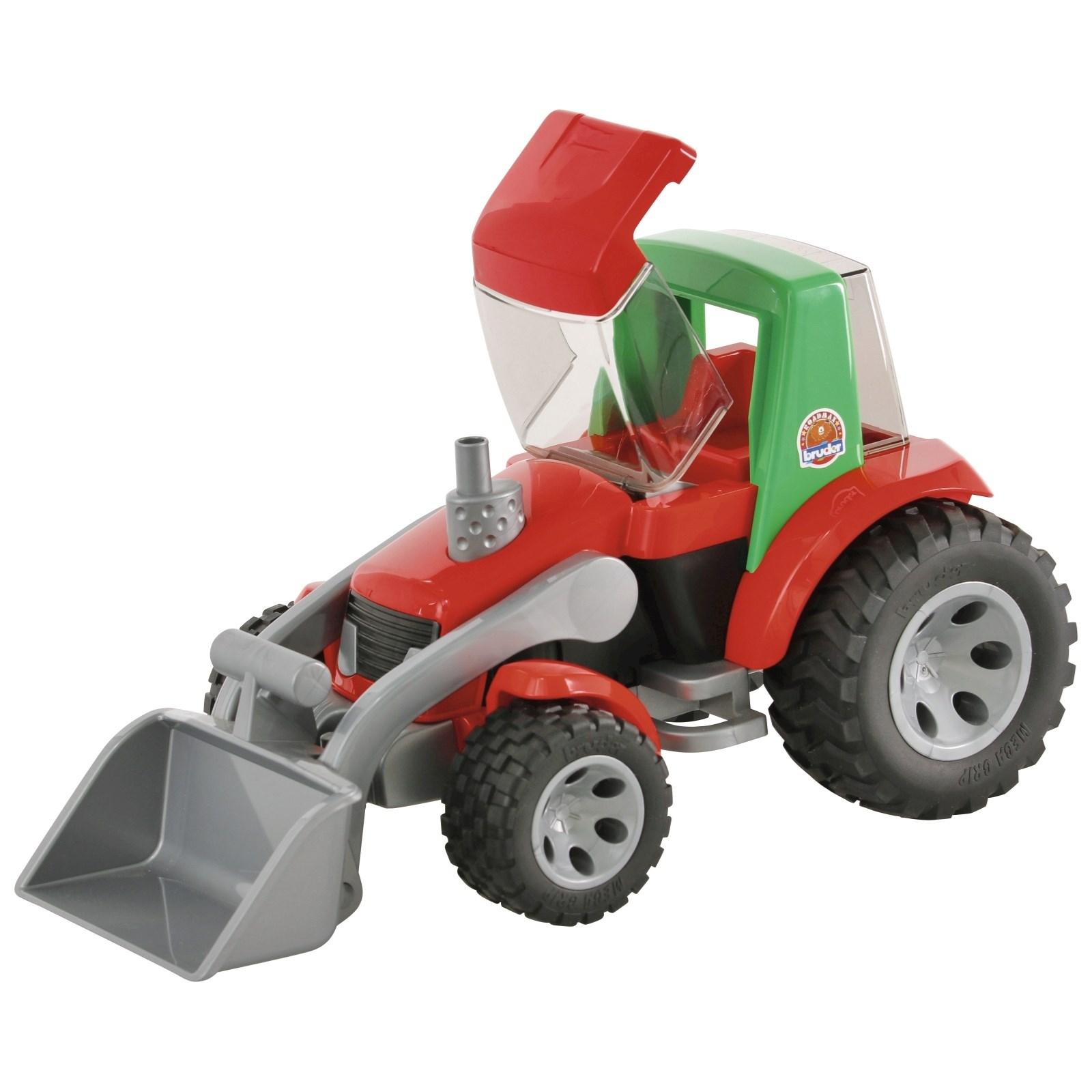 traktor mit frontlader roadmax kinderspielzeug indoor. Black Bedroom Furniture Sets. Home Design Ideas
