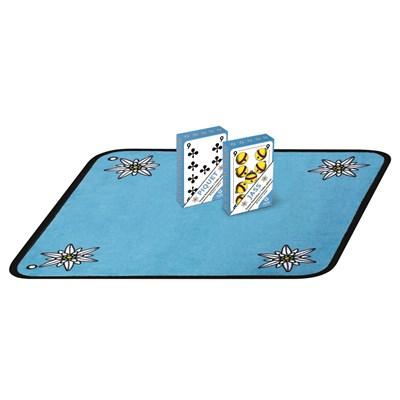 Jassteppich mit Karten
