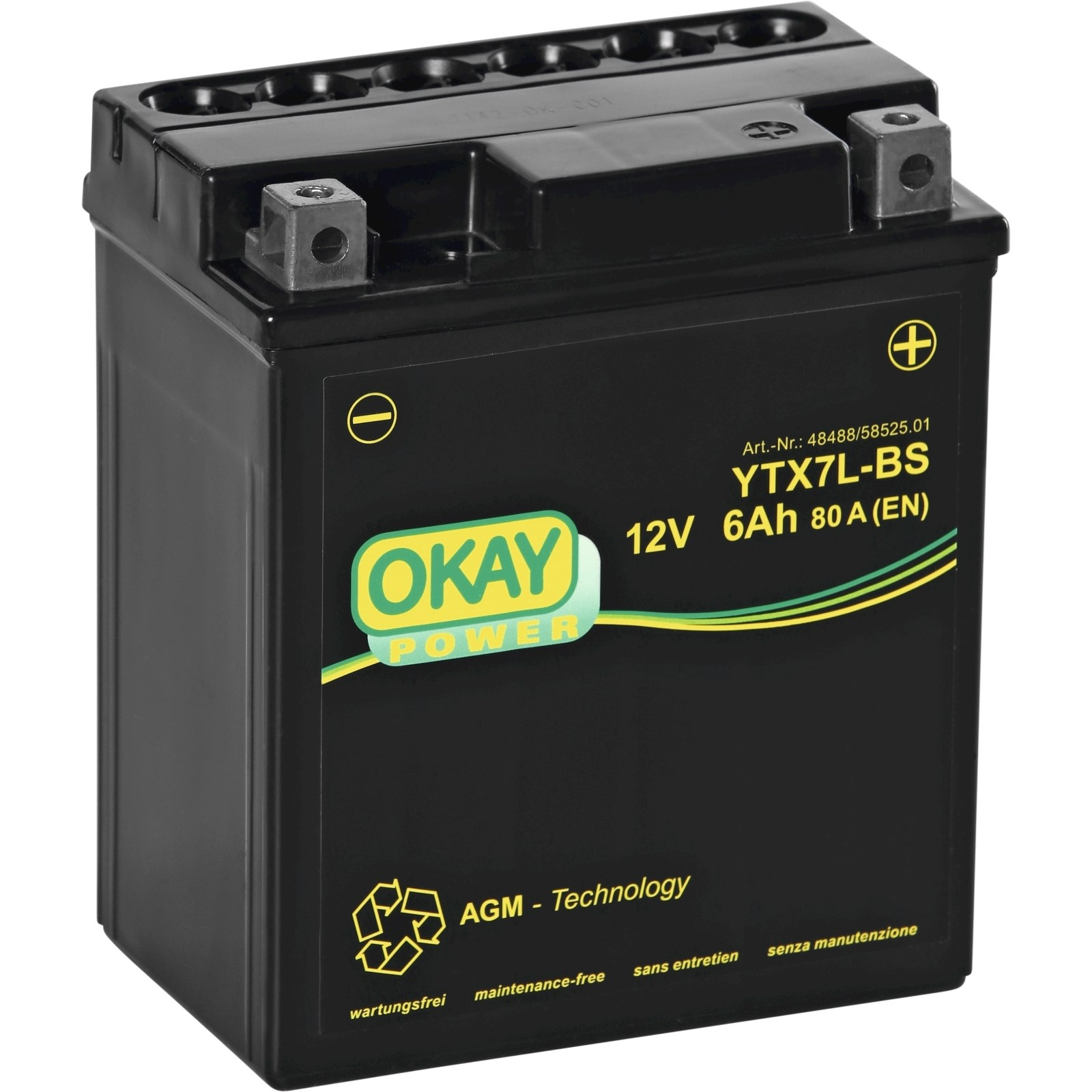 motobatterie ytx7l bs okay auto zubeh r landi. Black Bedroom Furniture Sets. Home Design Ideas