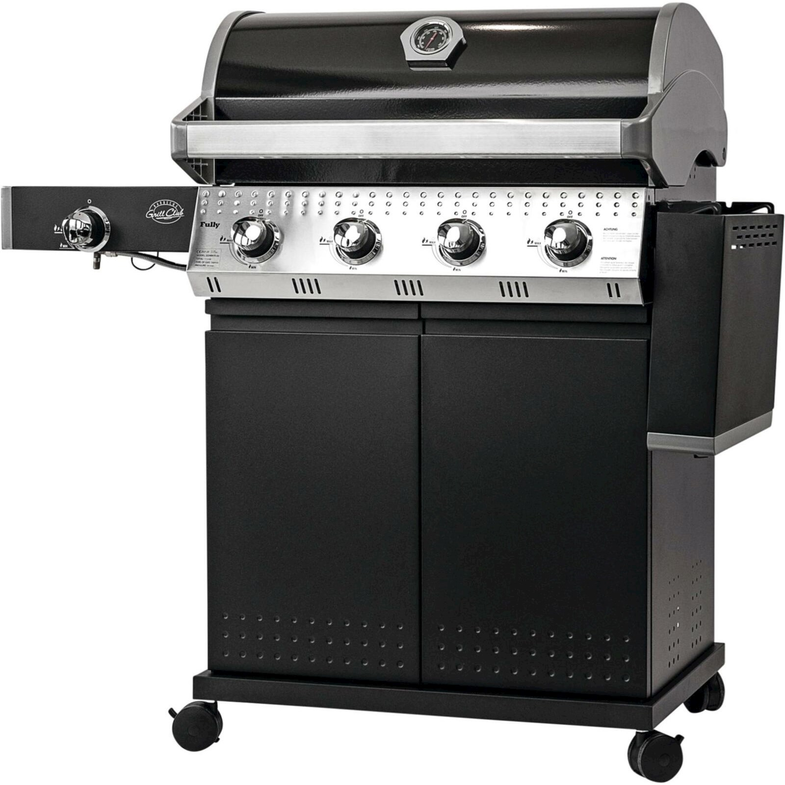gasgrill fully grill club gas elektrogrill landi. Black Bedroom Furniture Sets. Home Design Ideas
