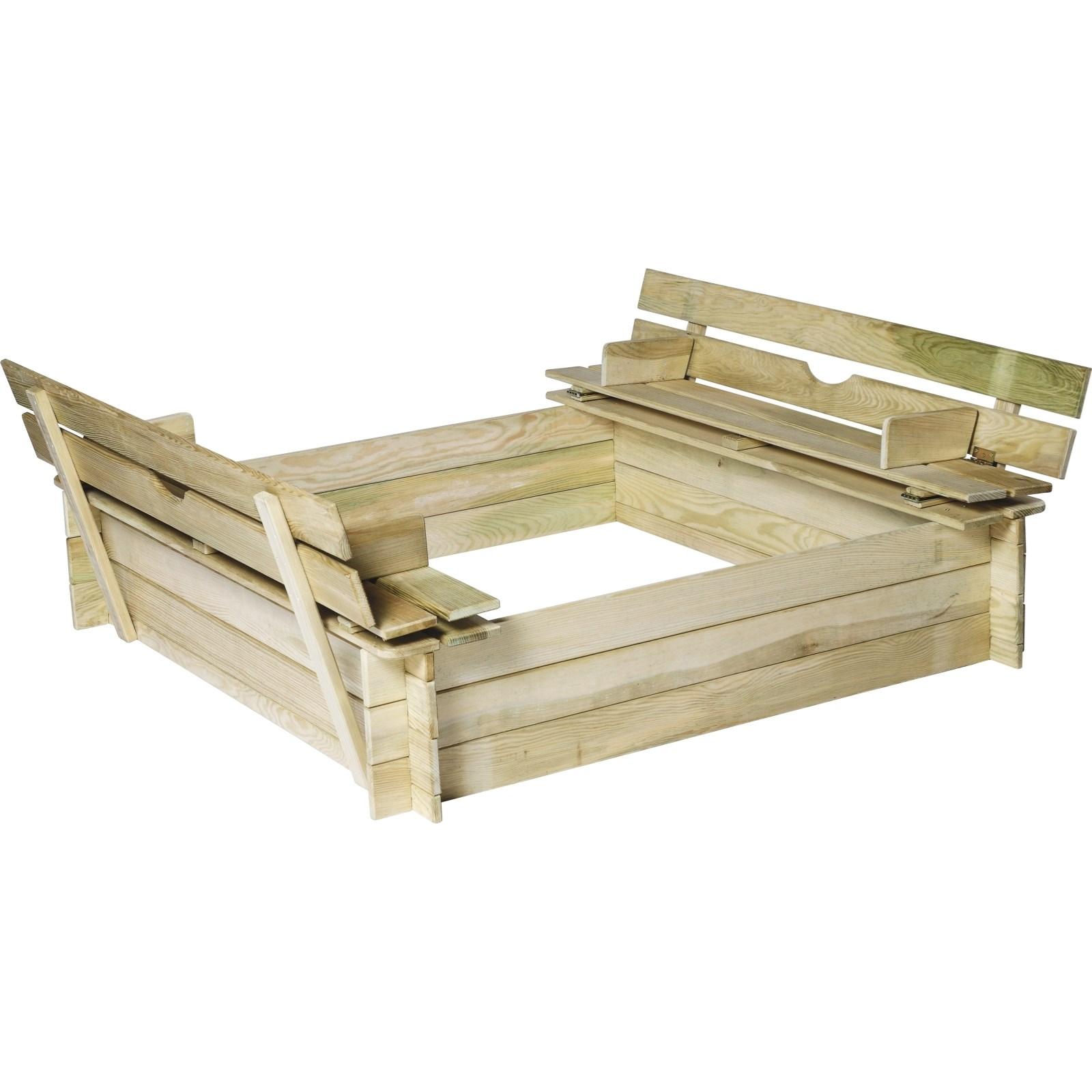 Sandkasten M Sitzbank 120 120 Cm Kinderspielzeug Outdoor Landi