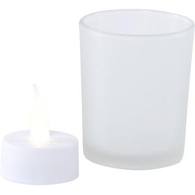 Tischlicht Glas LED 3er Set
