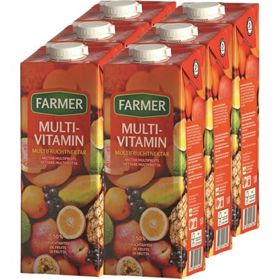 Multivitamin Farmer 6 × 100 cl