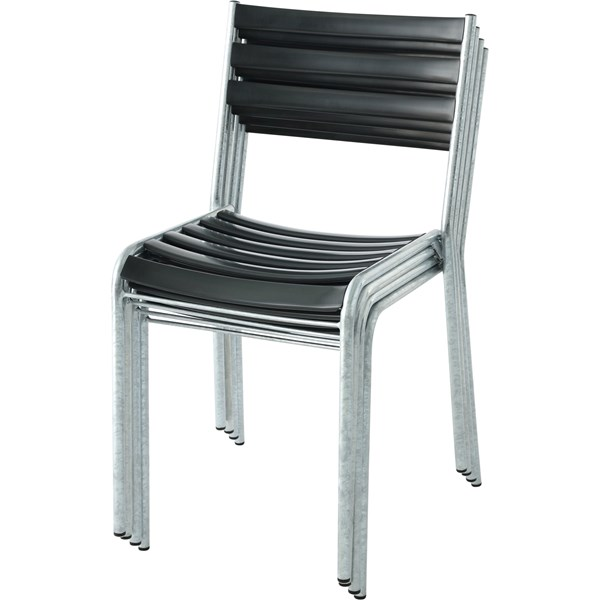Chaise latte PVC anthracite