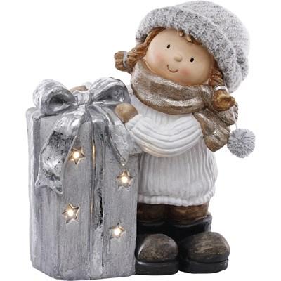 Kind mit Geschenk 4 LED