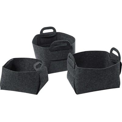 Filzkorb S dunkel grau
