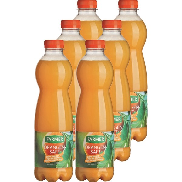 Pur jus d'orange Farmer 6 × 100 cl