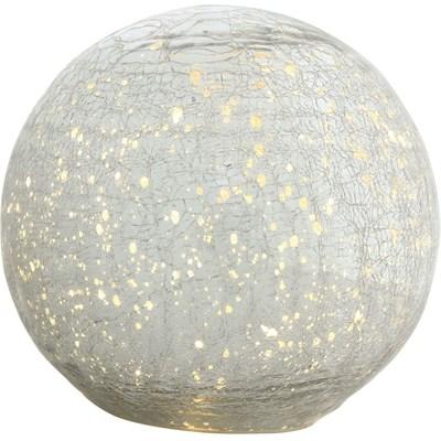 Glasball silber 20 LED 15 cm