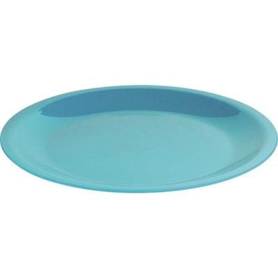 Teller flach blau