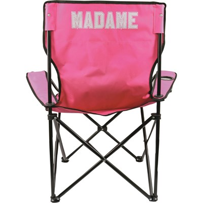 Chaise camping pliable Madame