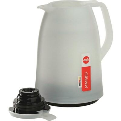Isolierkanne 1 Liter weiss