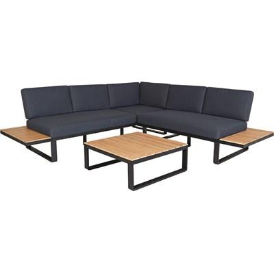 Lounge Set  Holz/ Alu