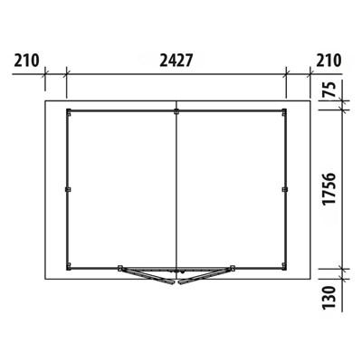 Elementhaus 240×180×220cm