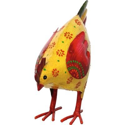 Huhn klein Idine gelb/rot/grün