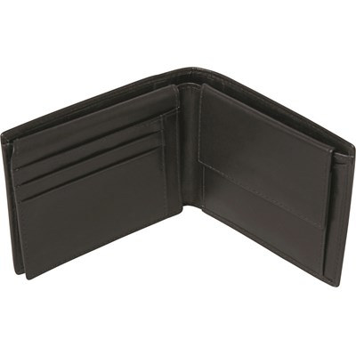 Portemonnaie Leder schwarz