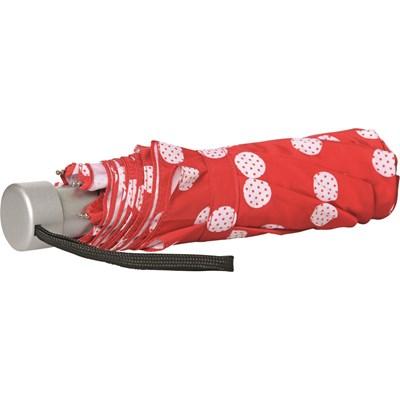 Regenschirm rot mit Punkten