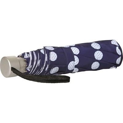 Regenschirm blau mit Punkten