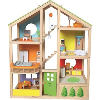 Puppenhaus Holz möbliert