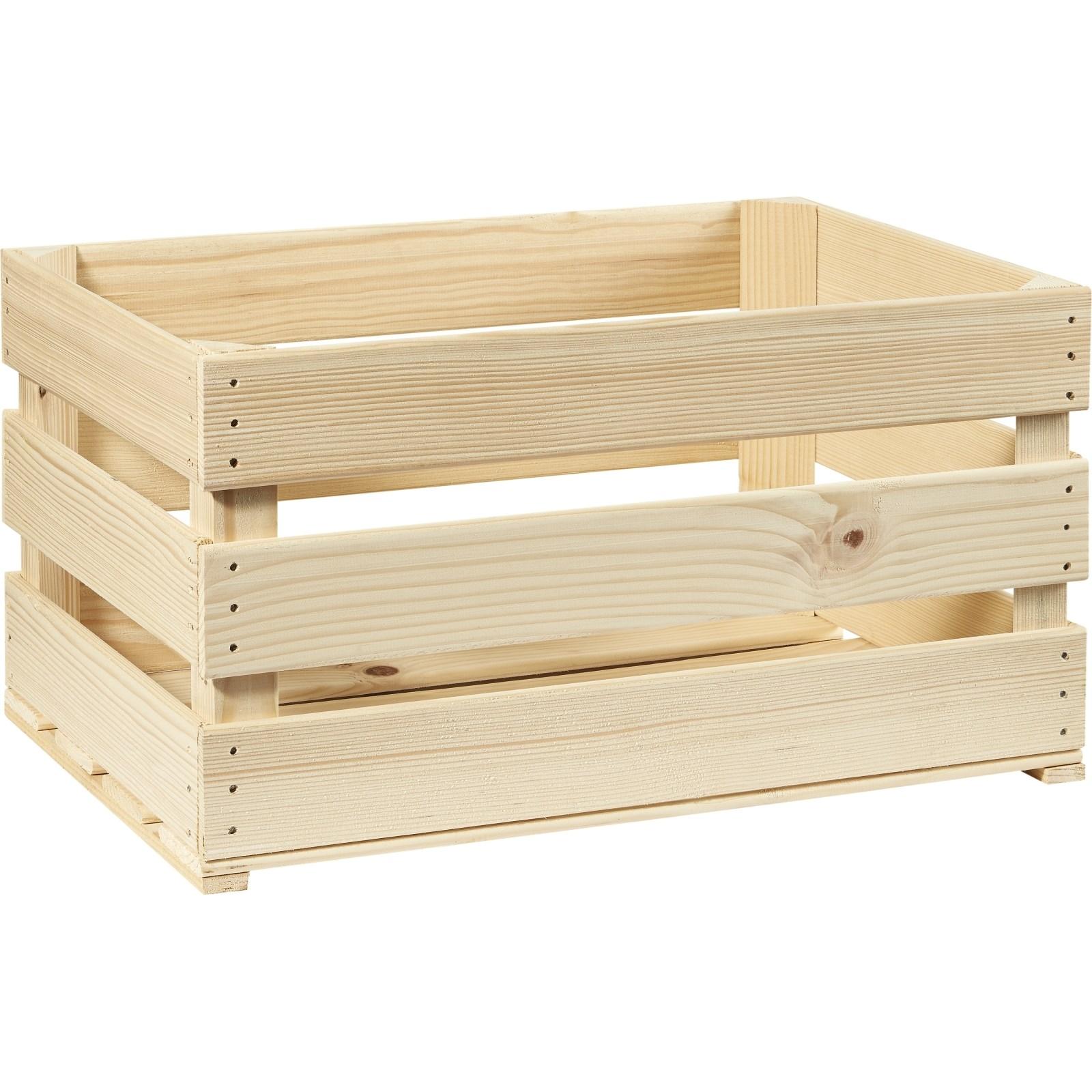 Caisse De Pomme Vide cageot en bois 60 × 40 × 30 cm - accessoires de récolte - landi