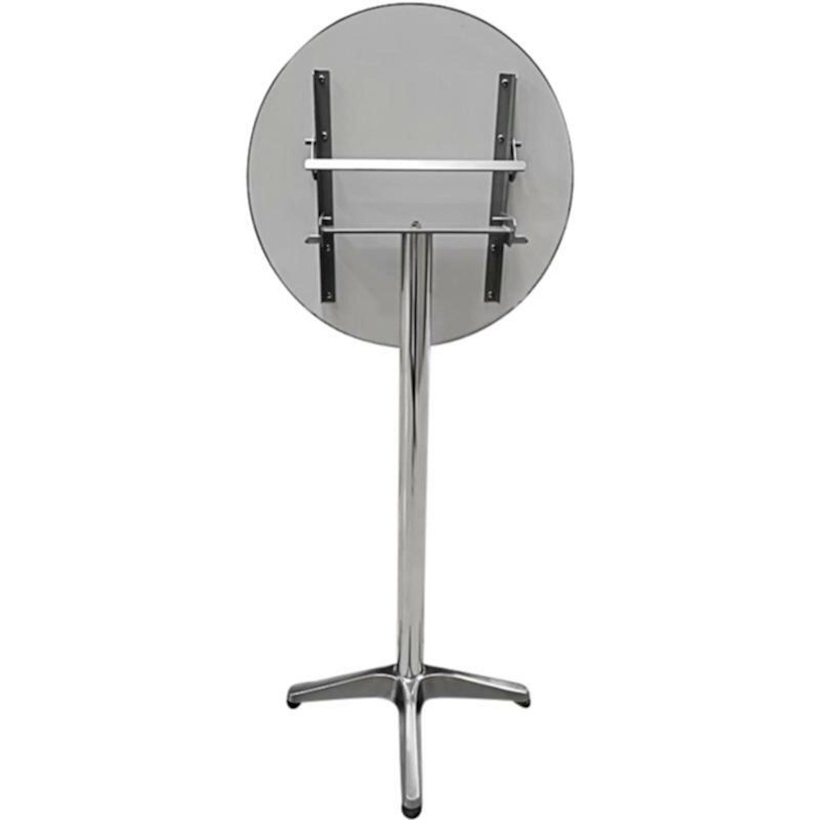 Table de bar alu ronde 115×60cm - Meubles d\'extérieur - LANDI