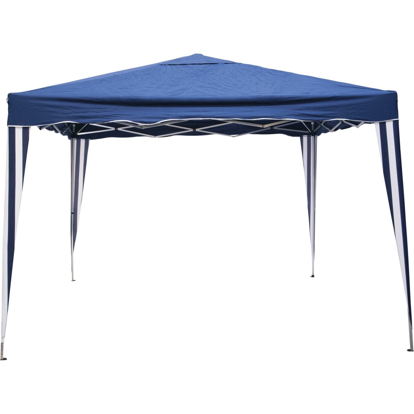Pavillon pliable bleu 250×300×300cm - Meubles d\'extérieur - LANDI