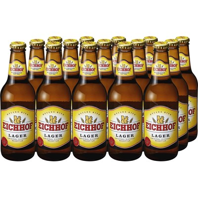 Lagerbier Eichhof hell 15 × 33 cl