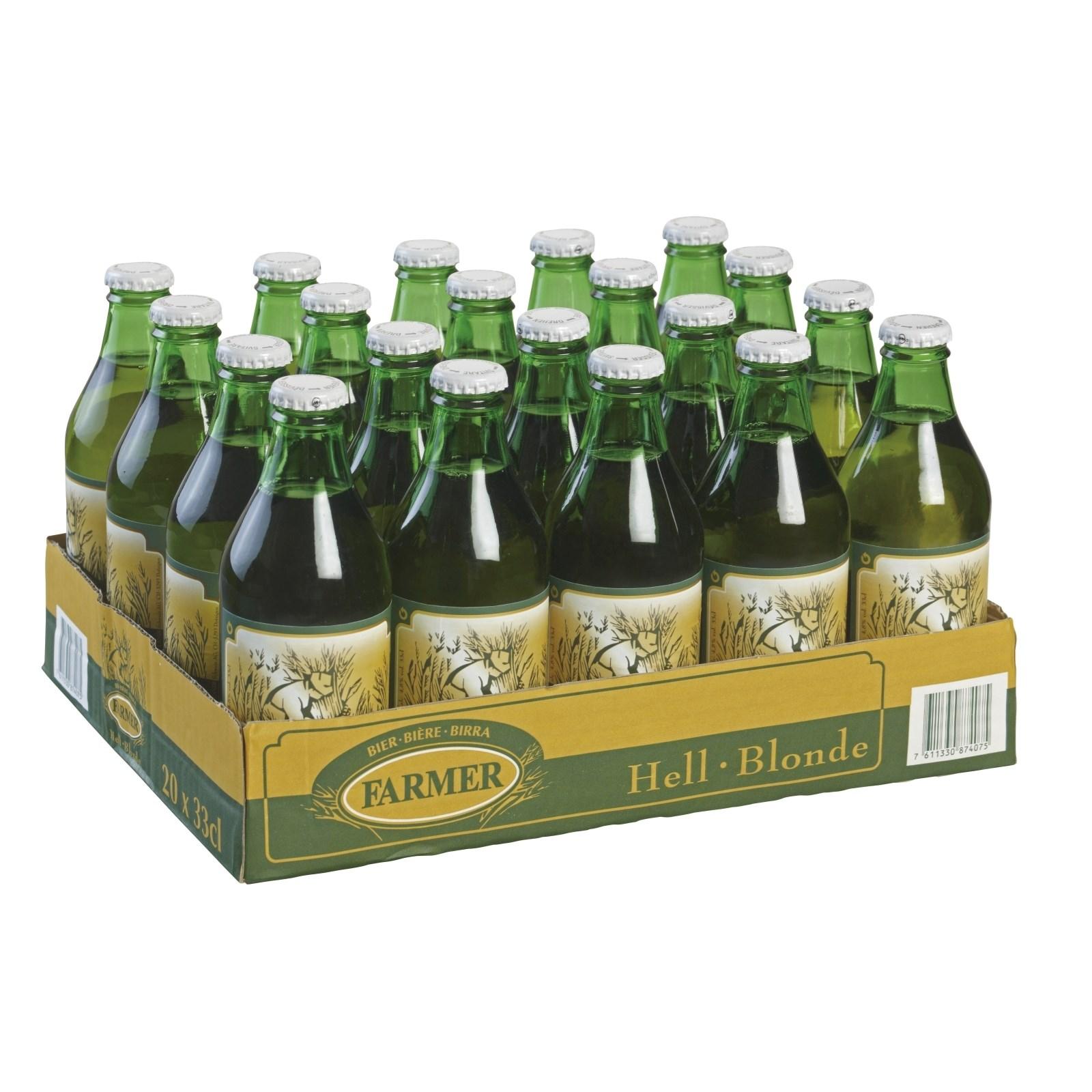 lagerbier farmer 20 33 cl biere mit alkohol landi. Black Bedroom Furniture Sets. Home Design Ideas