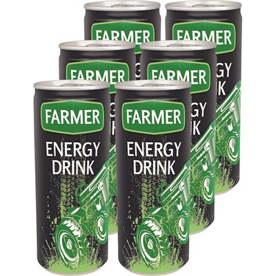 Energy Drink Farmer Dose 6 × 25 cl